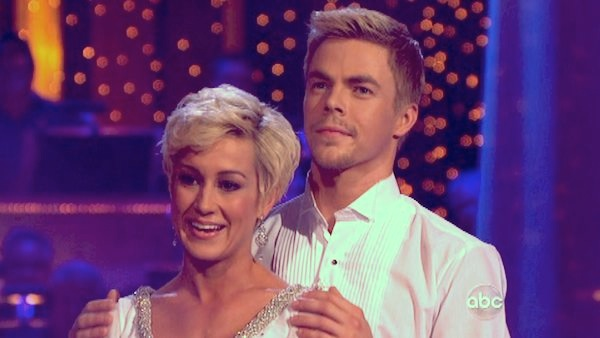 "<div class=""meta ""><span class=""caption-text "">Kellie Pickler and partner Derek Hough danced the Viennese Waltz on week eight of 'Dancing With The Stars' on May 6, 2013. They received 28 out of 30 points from the judges. (ABC Photo/ Adam Taylor)</span></div>"