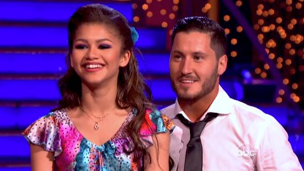 "<div class=""meta ""><span class=""caption-text "">'Shake It Up' actress Zendaya and partner Val Chmerkovskiy danced the Foxtrot on week eight of 'Dancing With The Stars' on May 6, 2013. They received 28 out of 30 points from the judges. (ABC Photo/ Adam Taylor)</span></div>"