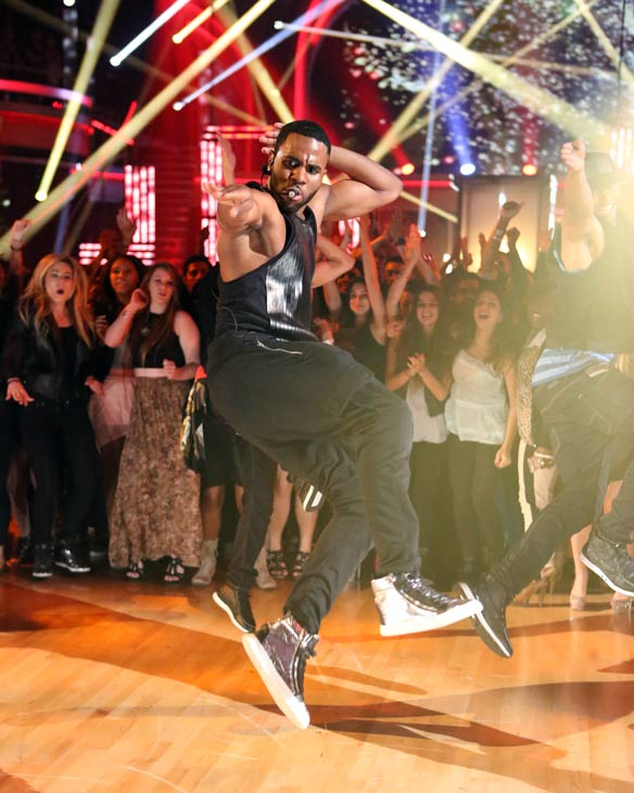 "<div class=""meta image-caption""><div class=""origin-logo origin-image ""><span></span></div><span class=""caption-text"">Jason Derulo performs his current single 'The Other Side' on 'Dancing With The Stars: The Results Show' on May 7, 2013. (ABC Photo/ Adam Taylor)</span></div>"