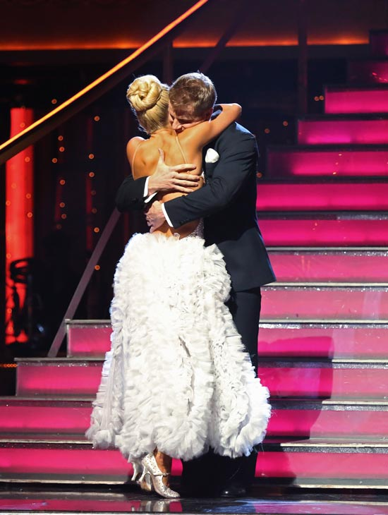 "<div class=""meta ""><span class=""caption-text "">Former 'Bachelor' star Sean Lowe and his partner Peta Murgatroyd react to their elimination on 'Dancing With The Stars: The Results Show' on May 7, 2013.  The pair received 21 out of 30 points from the judges for their Tango on week eight of 'Dancing With The Stars,' which aired on May 6, 2013. They also received 21 out of 30 points for their Jazztrio, which brought their week's total to 42 out of 60.  (ABC Photo/ Adam Taylor)</span></div>"
