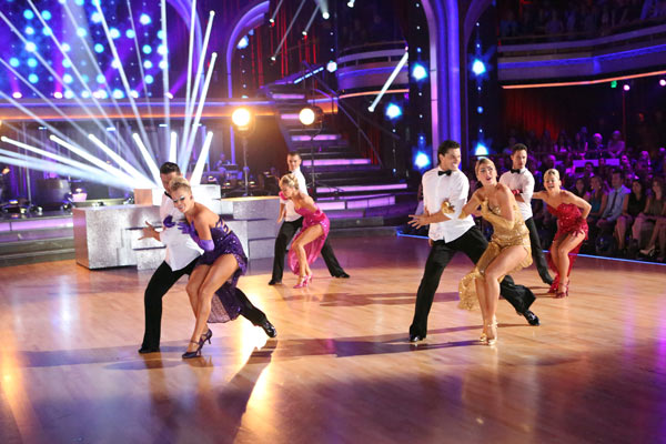 The troupe performs an ensemble dance choreographed by Jason Gilkison on 'Dancing With The Stars: The Results Show' on May 7, 2013.