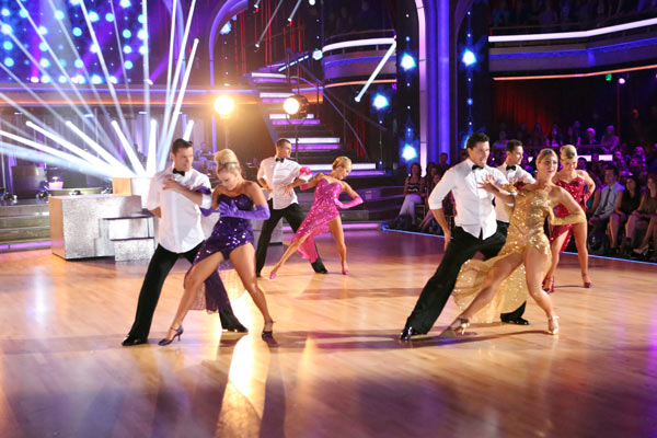"<div class=""meta ""><span class=""caption-text "">The troupe performs an ensemble dance choreographed by Jason Gilkison on 'Dancing With The Stars: The Results Show' on May 7, 2013. (ABC Photo/ Adam Taylor)</span></div>"