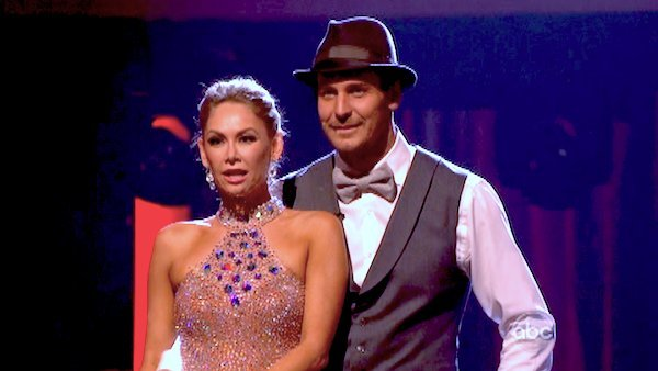 Actor Ingo Rademacher and his partner Kym Johnson await their fate on &#39;Dancing With The Stars: The Results Show&#39; on May 7, 2013.  The pair received 24 out of 30 points from the judges for their Foxtrot routine on week eight of &#39;Dancing With The Stars,&#39; which aired on May 6, 2013. They also received 24 out of 30 points for their trio, which brought their week&#39;s total to 48 out of 60. <span class=meta>(ABC Photo&#47; Adam Taylor)</span>