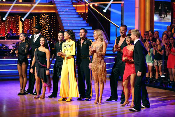 "<div class=""meta ""><span class=""caption-text "">The cast of 'Dancing With The Stars' appears on week 9 of the show on May 13, 2013. (Pictured: Kellie Pickler, Derek Hough, Kym Johnson, Ingo Rademacher, Tom Bergeron, Brooke Burke-Charvet, Zendaya, Val Chmerkovskiy, Mark Ballas, Alexandra Raisman, Karina Smirnoff and Jacoby Jones) (ABC Photo/ Adam Taylor)</span></div>"