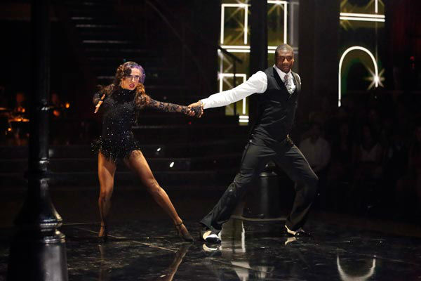 NFL star Jacoby Jones and partner Karina Smirnoff dance the Argentine Tango on week 9 of &#39;Dancing With The Stars&#39; on May 13, 2013. They received 30 out of 30 points from the judges. <span class=meta>(ABC Photo&#47; Adam Taylor)</span>