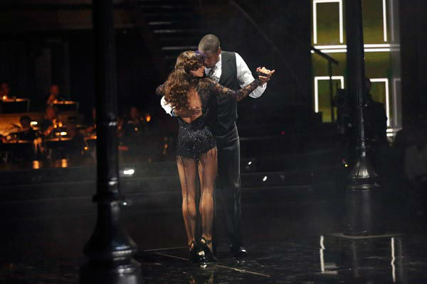 "<div class=""meta ""><span class=""caption-text "">NFL star Jacoby Jones and partner Karina Smirnoff dance the Argentine Tango on week 9 of 'Dancing With The Stars' on May 13, 2013. They received 30 out of 30 points from the judges. (ABC Photo/ Adam Taylor)</span></div>"
