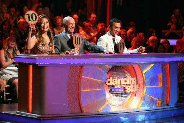Judges Carrie Ann Inaba, Len Goodman and Bruno Tonioli appear on week 9 of &#39;Dancing With The Stars&#39; on May 13, 2013. <span class=meta>(ABC Photo&#47; Adam Taylor)</span>