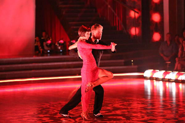 Kellie Pickler and partner Derek Hough received 30 out of 30 points from the judges for their Argentine Tango during week 9 of &#39;Dancing With The Stars,&#39; which aired on May 13, 2013. <span class=meta>(ABC Photo&#47; Adam Taylor)</span>