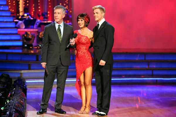 "<div class=""meta ""><span class=""caption-text "">Kellie Pickler and partner Derek Hough received 30 out of 30 points from the judges for their Argentine Tango during week 9 of 'Dancing With The Stars,' which aired on May 13, 2013. (ABC Photo/ Adam Taylor)</span></div>"