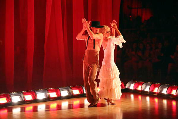 "<div class=""meta image-caption""><div class=""origin-logo origin-image ""><span></span></div><span class=""caption-text"">Kellie Pickler and partner Derek Hough received 28 out of 30 points from the judges for their Flamenco, chosen by Twitter fans, during week 9 of 'Dancing With The Stars,' which aired on May 13, 2013.The two received 30 out of 30 for their first dance, the Argentine Tango, for a total of 58 out of 60. (ABC Photo/ Adam Taylor)</span></div>"