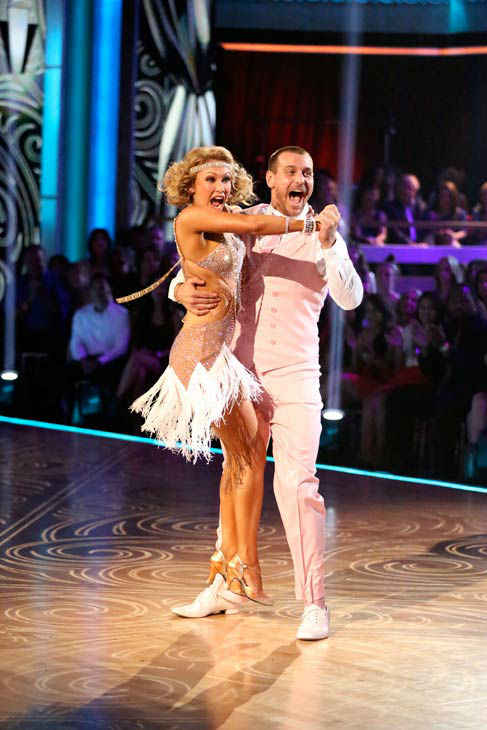 "<div class=""meta ""><span class=""caption-text "">Actor Ingo Rademacher and partner Kym Johnson dance the Charleston, chosen by Twitter fans, on week 9 of 'Dancing With The Stars' on May 13, 2013. They received 27 out of 30 points from the judges. The two received 24 out of 30 for their first dance, the Samba, for a total of 51 out of 60. (ABC Photo/ Adam Taylor)</span></div>"