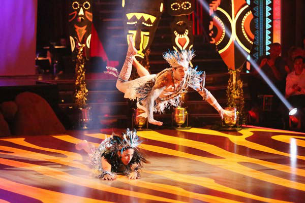 Olympic gymnast Aly Raisman and her partner Mark Ballas dance Afro Jazz, chosen by Twitter fans, on week 9 of &#39;Dancing With The Stars&#39; on May 13, 2013. They received 29 out of 30 points from the judges. The two received 30 out of 30 for their first dance, the Rumba, for a total of 59 out of 60.  <span class=meta>(ABC Photo&#47; Adam Taylor)</span>