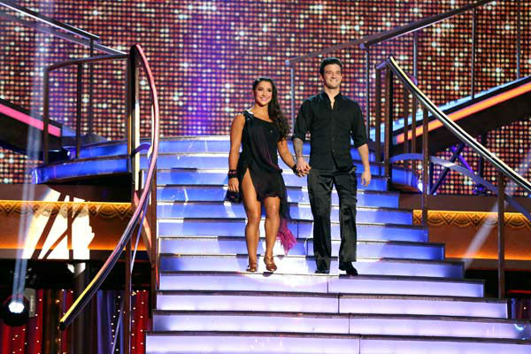 "<div class=""meta ""><span class=""caption-text "">Olympic gymnast Aly Raisman and her partner Mark Ballas appear on week 9 of 'Dancing With The Stars' on May 13, 2013. (ABC Photo/ Adam Taylor)</span></div>"