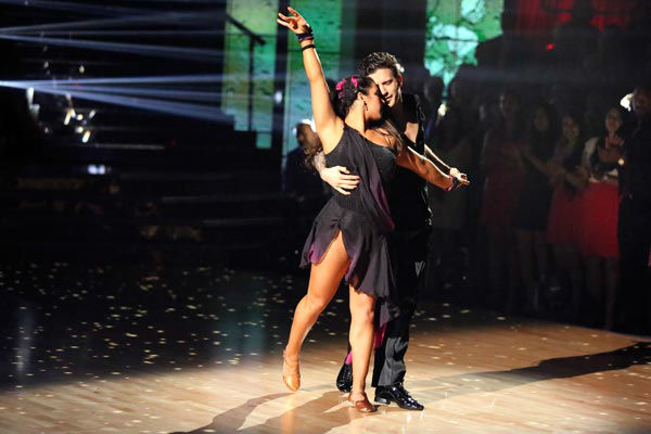 Olympic gymnast Aly Raisman and her partner Mark Ballas dance the Rumba on week 9 of &#39;Dancing With The Stars&#39; on May 13, 2013. They received 30 out of 30 points from the judges. <span class=meta>(ABC Photo&#47; Adam Taylor)</span>