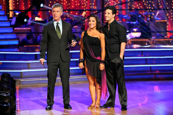 "<div class=""meta ""><span class=""caption-text "">Olympic gymnast Aly Raisman and her partner Mark Ballas dance the Rumba on week 9 of 'Dancing With The Stars' on May 13, 2013. They received 30 out of 30 points from the judges. (ABC Photo/ Adam Taylor)</span></div>"
