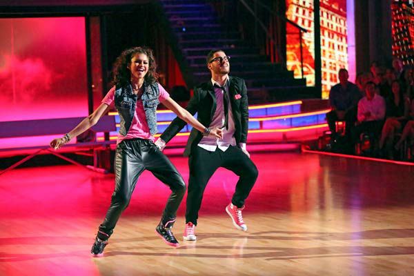 "<div class=""meta image-caption""><div class=""origin-logo origin-image ""><span></span></div><span class=""caption-text""> 'Shake It Up' actress Zendaya and partner Val Chmerkovskiy dance Hip Hop, chosen by Twitter fans, on week 9 of 'Dancing With The Stars' on May 13, 2013. They received 30 out of 30 points from the judges.  The two received 25 out of 30 for their first dance, the Quickstep, for a total of 55 out of 60.  (ABC Photo/ Adam Taylor)</span></div>"