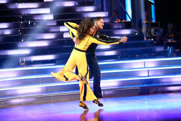 &#39;Shake It Up&#39; actress Zendaya and partner Val Chmerkovskiy dance the Quiskstep on week 9 of &#39;Dancing With The Stars&#39; on May 13, 2013. They received 25 out of 30 points from the judges. <span class=meta>(ABC Photo&#47; Adam Taylor)</span>