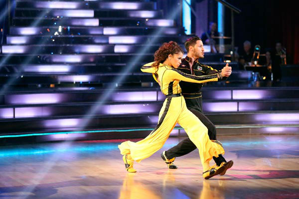 "<div class=""meta image-caption""><div class=""origin-logo origin-image ""><span></span></div><span class=""caption-text"">DANCING WITH THE STARS -""Episode 1609"" - Five remaining couples took to the ballroom floor during the Semi-Finals on MONDAY, MAY 13 (8:00-10:01 p.m., ET). Each couple performed two routines, inching their way one step closer to the coveted mirror ball trophy. Last week viewers were asked to vote via twitter on a new style of dance for each couple to perform; this week the couples performed their chosen style, including the Flamenco, Charleston, Afro Jazz, Lindy Hop and Hip Hop. Each couple was also be challenged to take on a ballroom or Latin style dance they have yet to perform this season.  (ABC/Adam Taylor) ZENDAYA, VAL CHMERKOVSKIY (ABC Photo/ Adam Taylor)</span></div>"