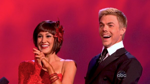 "<div class=""meta ""><span class=""caption-text "">Kellie Pickler and partner Derek Hough received 30 out of 30 points from the judges for their Argentine Tango during week 9 of 'Dancing With The Stars,' which aired on May 13, 2013. (Photo / Adam Taylor)</span></div>"