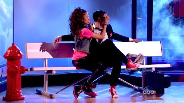 &#39;Shake It Up&#39; actress Zendaya and partner Val Chmerkovskiy dance Hip Hop, chosen by Twitter fans, on week 9 of &#39;Dancing With The Stars&#39; on May 13, 2013. They received 30 out of 30 points from the judges. The two received 25 out of 30 for their first dance, the Quickstep, for a total of 55 out of 60. <span class=meta>(ABC Photo &#47; Adam Taylor)</span>