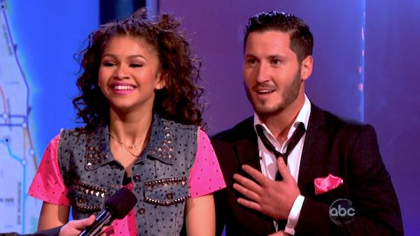 "<div class=""meta ""><span class=""caption-text "">'Shake It Up' actress Zendaya and partner Val Chmerkovskiy dance Hip Hop, chosen by Twitter fans, on week 9 of 'Dancing With The Stars' on May 13, 2013. They received 30 out of 30 points from the judges. The two received 25 out of 30 for their first dance, the Quickstep, for a total of 55 out of 60. (ABC Photo / Adam Taylor)</span></div>"