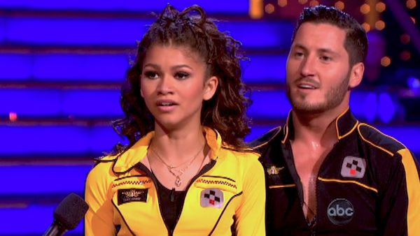 &#39;Shake It Up&#39; actress Zendaya and partner Val Chmerkovskiy danced the Quickstep on week 9 of &#39;Dancing With The Stars&#39; on May 13, 2013. They received 25 out of 30 points from the judges. <span class=meta>(ABC Photo &#47; Adam Taylor)</span>