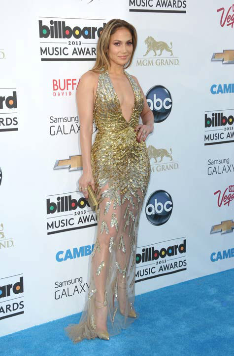 Jennifer Lopez arrives at the Billboard Music Awards at the MGM Grand Garden Arena on Sunday, May 19, 2013 in Las Vegas.