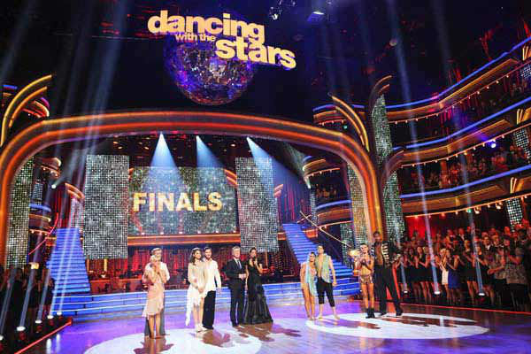 Kellie Pickler, Derek Hough, Zendaya, Val Chmerkovskiy, Tom Bergeron, Brooke Burke-Charvet, Alexandra Raisman, Mark Ballas, Karina Smirnoff and Jacoby Jones appear on week 10 of 'Dancing With The Stars' on May 20, 2013.