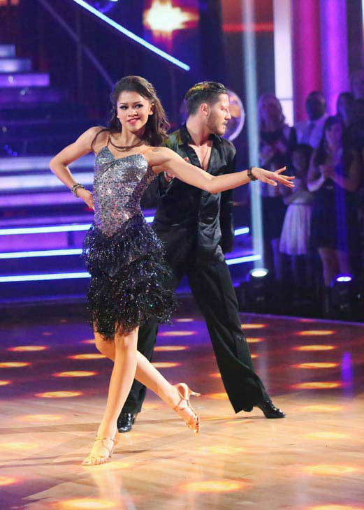 'Shake It Up' actress Zendaya and partner Val Chmerkovskiy dance the Cha Cha relay on week 10 of 'Dancing With The Stars' on May 20, 2013. They came in first place and received 5 additional points from the judges.