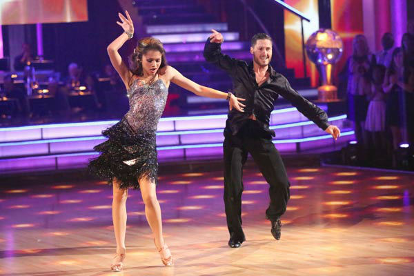"<div class=""meta ""><span class=""caption-text "">'Shake It Up' actress Zendaya and partner Val Chmerkovskiy dance the Cha Cha relay on week 10 of 'Dancing With The Stars' on May 20, 2013. They came in first place and received 5 additional points from the judges. (ABC Photo/ Adam Taylor)</span></div>"