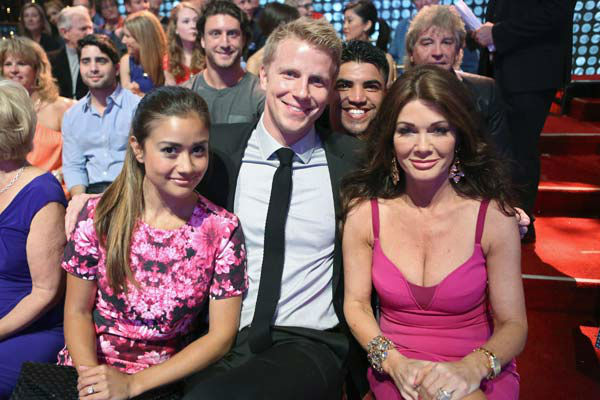 Catherine Giudici, Sean Lowe and Lisa Vanderpump appear on week 10 of 'Dancing With The Stars' on May 20, 2013.