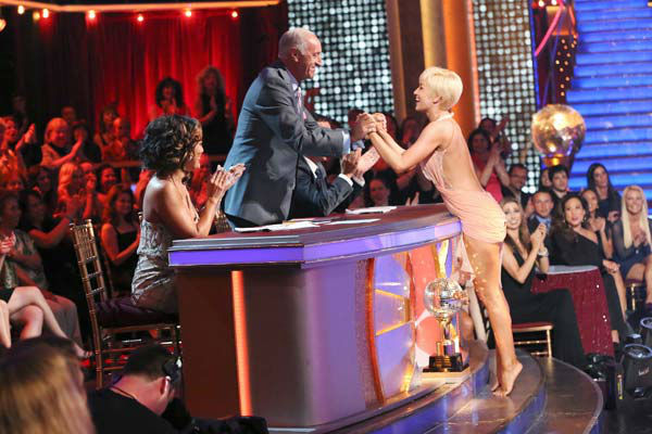 Kellie Pickler and partner Derek Hough received 30 out of 30 points from the judges for their freestyle dance during week 10 of 'Dancing With The Stars,' which aired on May 20, 2013.
