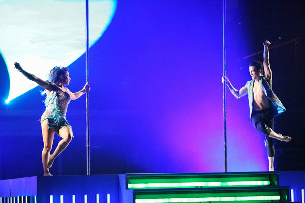 "<div class=""meta image-caption""><div class=""origin-logo origin-image ""><span></span></div><span class=""caption-text"">Olympic gymnast Aly Raisman and her partner Mark Ballas dance freestyle on week 10 of 'Dancing With The Stars' on May 20, 2013. They received 30 out of 30 points from the judges, making their night's cumulative score 61 out of 65 points. (ABC Photo/ Adam Taylor)</span></div>"