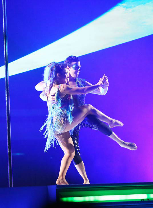 Olympic gymnast Aly Raisman and her partner Mark Ballas dance freestyle on week 10 of &#39;Dancing With The Stars&#39; on May 20, 2013. They received 30 out of 30 points from the judges, making their night&#39;s cumulative score 61 out of 65 points. <span class=meta>(ABC Photo&#47; Adam Taylor)</span>