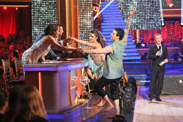 "<div class=""meta ""><span class=""caption-text "">Olympic gymnast Aly Raisman and her partner Mark Ballas danced freestyle on week 10 of 'Dancing With The Stars' on May 20, 2013. They received 30 out of 30 points from the judges, making their night's cumulative score 61 out of 65 points. (ABC Photo/ Adam Taylor)</span></div>"