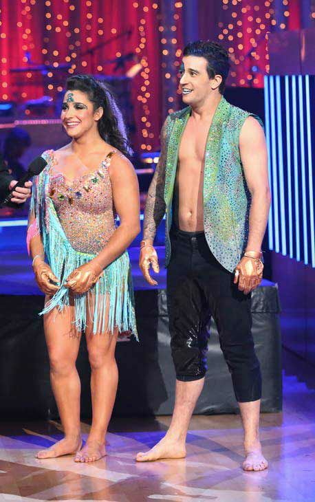 Olympic gymnast Aly Raisman and her partner Mark Ballas danced freestyle on week 10 of &#39;Dancing With The Stars&#39; on May 20, 2013. They received 30 out of 30 points from the judges, making their night&#39;s cumulative score 61 out of 65 points. <span class=meta>(ABC Photo&#47; Adam Taylor)</span>