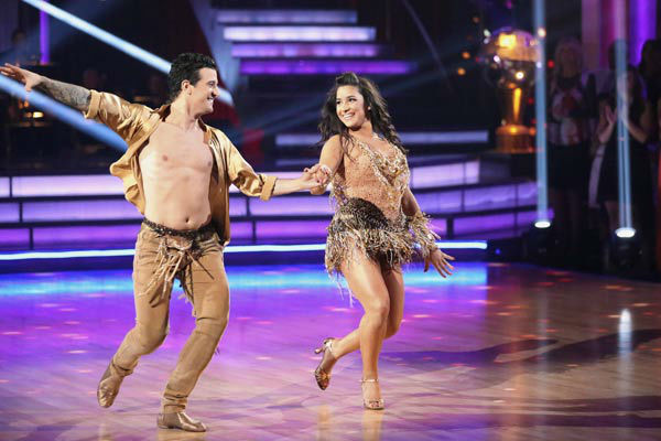 Olympic gymnast Aly Raisman and her partner Mark Ballas dance the Samba on week 10 of &#39;Dancing With The Stars&#39; on May 20, 2013. They received 28 out of 30 points from the judges. <span class=meta>(ABC Photo&#47; Adam Taylor)</span>