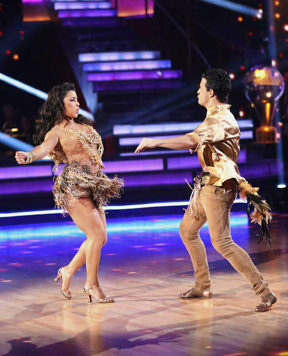 "<div class=""meta ""><span class=""caption-text "">Olympic gymnast Aly Raisman and her partner Mark Ballas dance the Samba on week 10 of 'Dancing With The Stars' on May 20, 2013. They received 28 out of 30 points from the judges. (ABC Photo/ Adam Taylor)</span></div>"