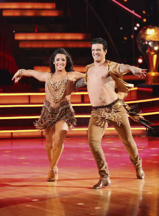 Olympic gymnast Aly Raisman and her partner Mark Ballas danced the Samba on week 10 of 'Dancing With The Stars' on May 20, 2013.