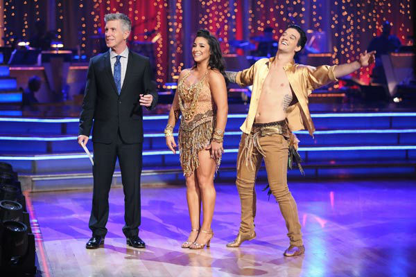 "<div class=""meta image-caption""><div class=""origin-logo origin-image ""><span></span></div><span class=""caption-text"">Olympic gymnast Aly Raisman and her partner Mark Ballas danced the Samba on week 10 of 'Dancing With The Stars' on May 20, 2013. They received 28 out of 30 points from the judges.  (ABC Photo/ Adam Taylor)</span></div>"