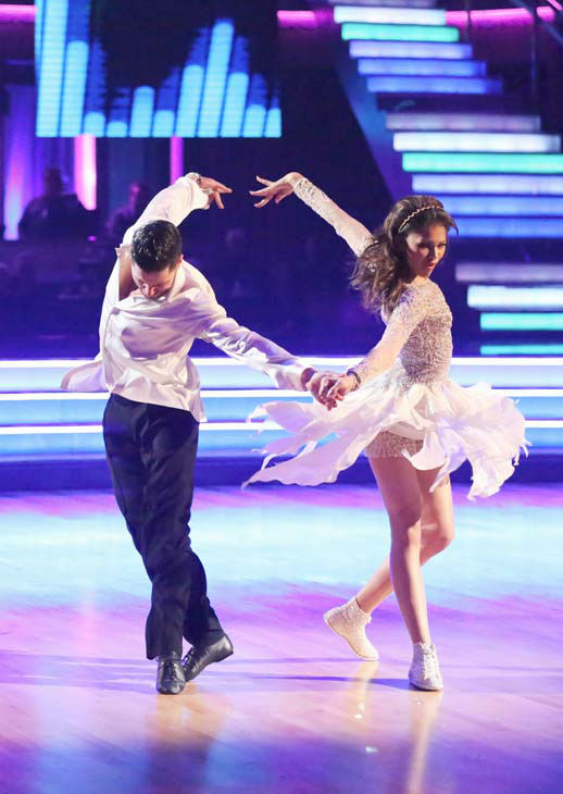&#39;Shake It Up&#39; actress Zendaya and partner Val Chmerkovskiy dance freestyle on week 10 of &#39;Dancing With The Stars&#39; on May 20, 2013. They received 30 out of 30 points from the judges, making their night&#39;s cumulative score 65 out of 65 points. <span class=meta>(ABC Photo&#47; Adam Taylor)</span>