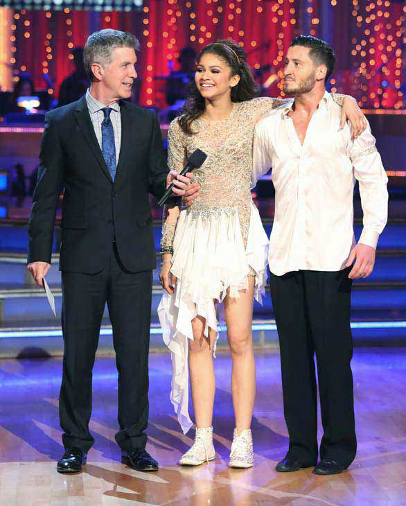&#39;Shake It Up&#39; actress Zendaya and partner Val Chmerkovskiy danced freestyle on week 10 of &#39;Dancing With The Stars&#39; on May 20, 2013. They received 30 out of 30 points from the judges, making their night&#39;s cumulative score 65 out of 65 points. <span class=meta>(ABC Photo&#47; Adam Taylor)</span>