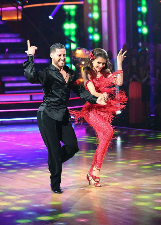 &#39;Shake It Up&#39; actress Zendaya and partner Val Chmerkovskiy dance the Samba on week 10 of &#39;Dancing With The Stars&#39; on May 20, 2013. They received 30 out of 30 points from the judges. <span class=meta>(ABC Photo&#47; Adam Taylor)</span>
