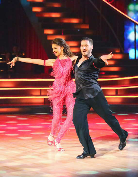 "<div class=""meta image-caption""><div class=""origin-logo origin-image ""><span></span></div><span class=""caption-text"">'Shake It Up' actress Zendaya and partner Val Chmerkovskiy dance the Samba on week 10 of 'Dancing With The Stars' on May 20, 2013. They received 30 out of 30 points from the judges. (ABC Photo/ Adam Taylor)</span></div>"