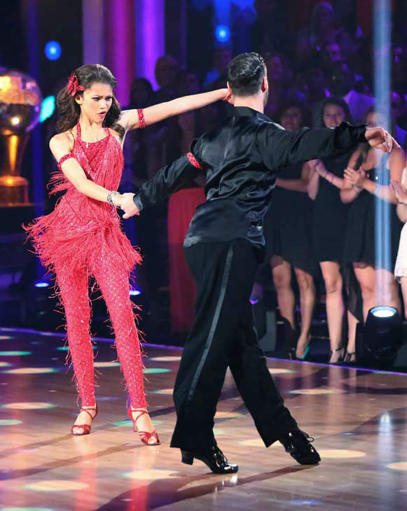 'Shake It Up' actress Zendaya and partner Val Chmerkovskiy danced the Samba on week 10 of 'Dancing With The Stars' on May 20, 2013.