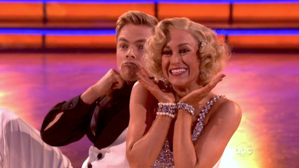 "<div class=""meta ""><span class=""caption-text "">Kellie Pickler and partner Derek Hough received 30 out of 30 points from the judges for their Quickstep during week 10 of 'Dancing With The Stars,' which aired on May 20, 2013. (ABC Photo / Adam Taylor)</span></div>"