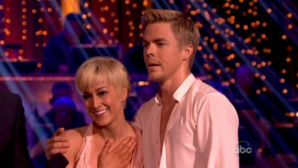 "<div class=""meta ""><span class=""caption-text "">Kellie Pickler and partner Derek Hough received 30 out of 30 points from the judges for their freestyle dance during week 10 of 'Dancing With The Stars,' which aired on May 20, 2013. Their night's cumulative score was 64 out of 65 points. (Photo / Adam Taylor)</span></div>"
