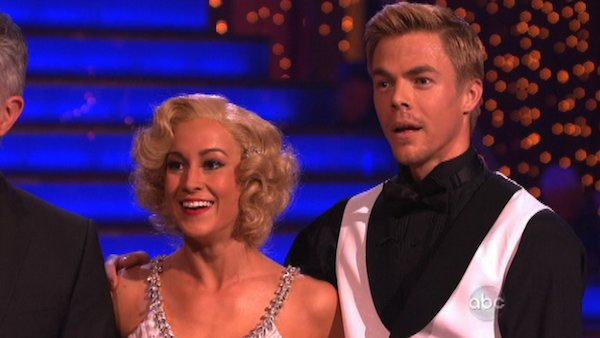 "<div class=""meta ""><span class=""caption-text "">Kellie Pickler and partner Derek Hough received 30 out of 30 points from the judges for their Quickstep during week 10 of 'Dancing With The Stars,' which aired on May 20, 2013. (Photo / Adam Taylor)</span></div>"