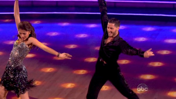 "<div class=""meta ""><span class=""caption-text "">'Shake It Up' actress Zendaya and partner Val Chmerkovskiy dance the Cha Cha relay on week 10 of 'Dancing With The Stars' on May 20, 2013. They came in first place and received 5 additional points from the judges. (ABC Photo / Adam Taylor)</span></div>"