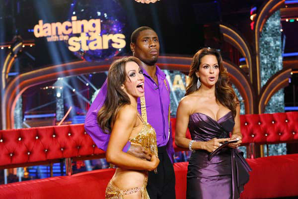 NFL star Jacoby Jones and partner Karina Smirnoff danced the Instant Salsa on week 10 of &#39;Dancing With The Stars&#39; on May 21, 2013. They received 30 out of 30 points from the judges, bringing their week&#39;s cumulative score to 86 out of 95 points. <span class=meta>(ABC Photo&#47; Kelsey McNeal)</span>